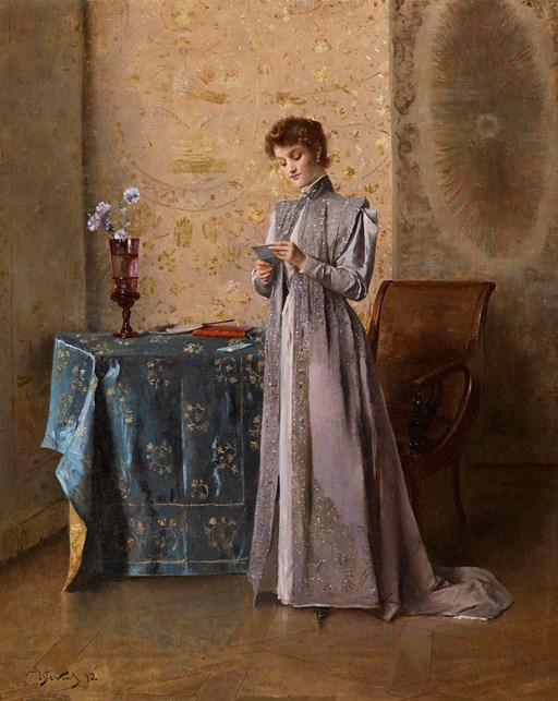 Alfred Stevens (1823-1906) - La Lettre