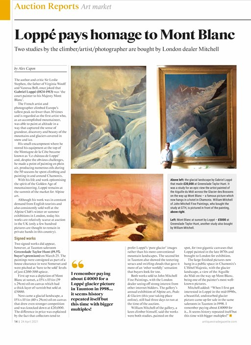 Loppé discoveries in the Antiques Trade Gazette