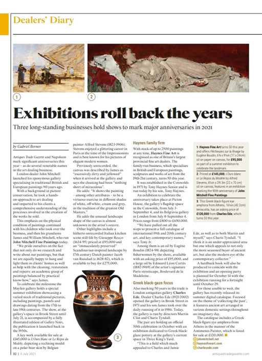 Dealers' Diary - 90 years of John Mitchell Fine Paintings