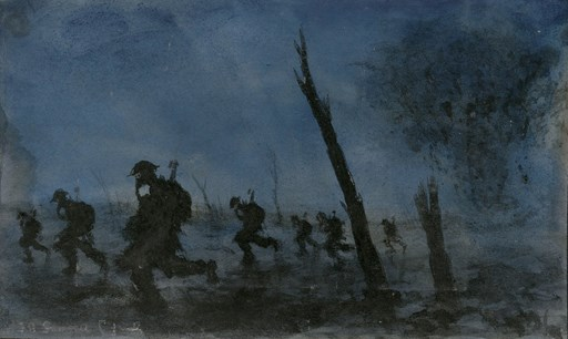 Gunner F J Mears: watercolours from the Great War