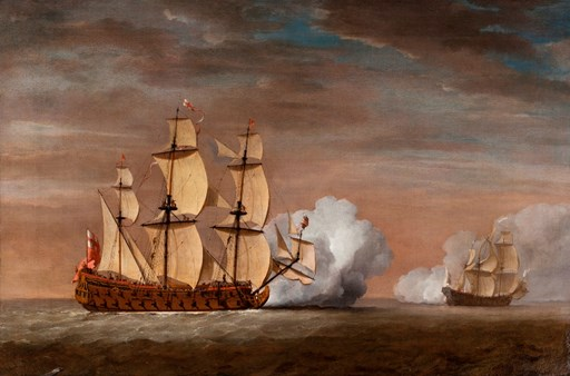 In the wake of the Van de Veldes: marine painting in 18th century England